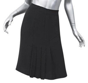 Balenciaga Black Satin Sleeveless V-neck Shift Short Cocktail Dress ... 76e250dfe