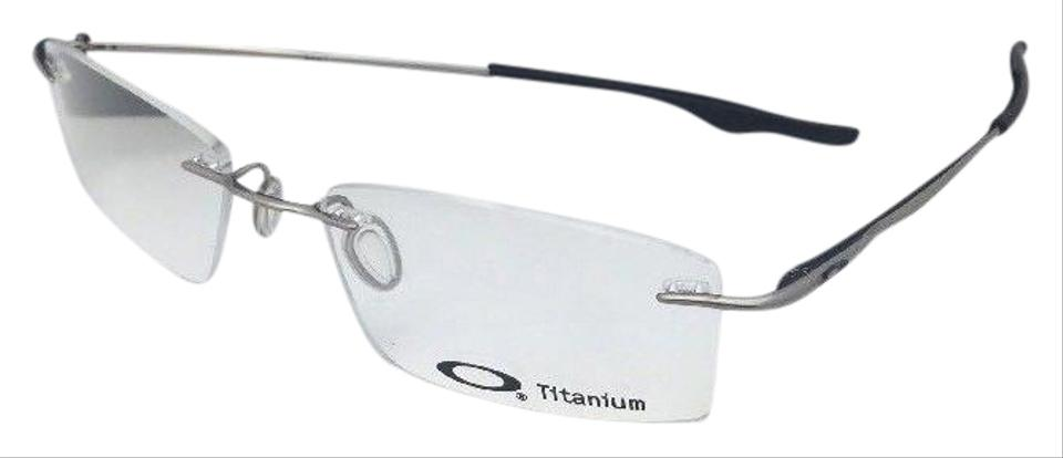 Oakley New Titanium Keel Ox3122-0353 53-18 136 Rimless Chrome Frame ...