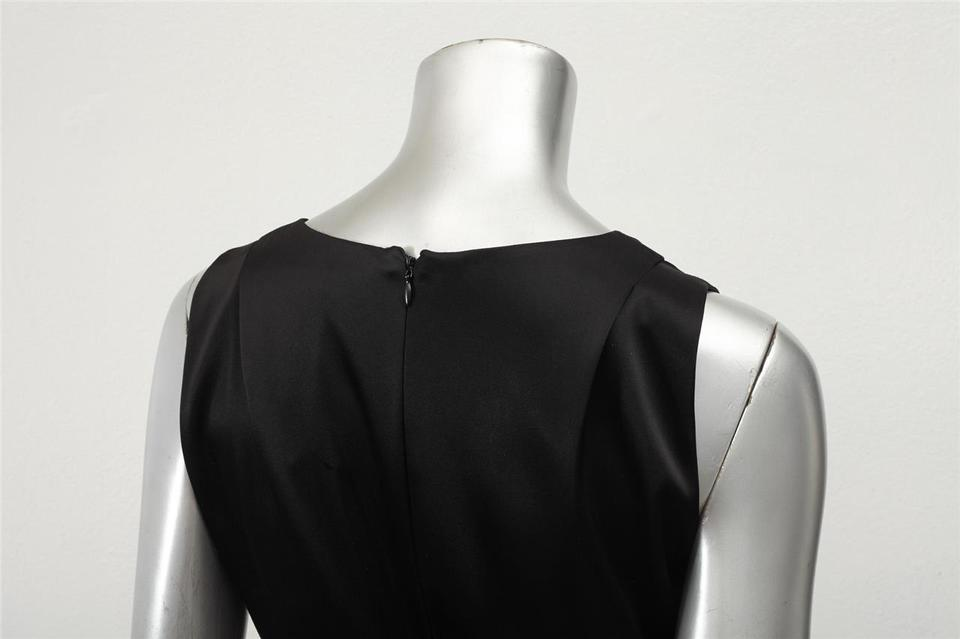 Balenciaga Black Satin Sleeveless V-neck Shift Short Cocktail Dress Size 6  (S) - Tradesy 56f4b0edb