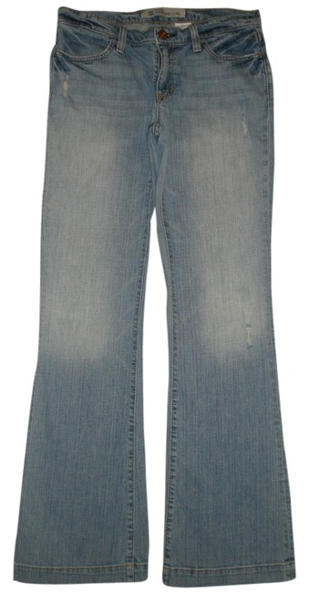 Gap Classic 5 Pocket Style * Cotton/spandex * Machine Washable * Distressing Detail *whiskering Detail * Random Destroyed * Flare Leg Jeans-Medium Wash