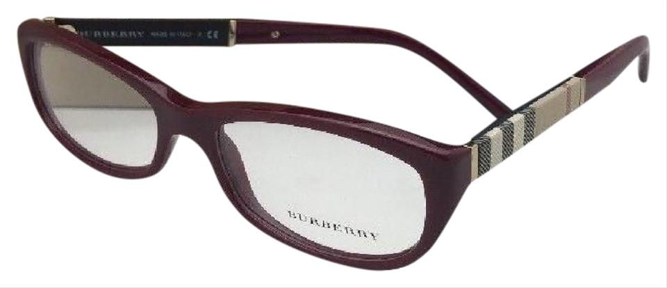 656334c01b87 Burberry New BURBERRY Eyeglasses B 2167 3403 52-16 140 Red Burgundy w  Plaid  ...