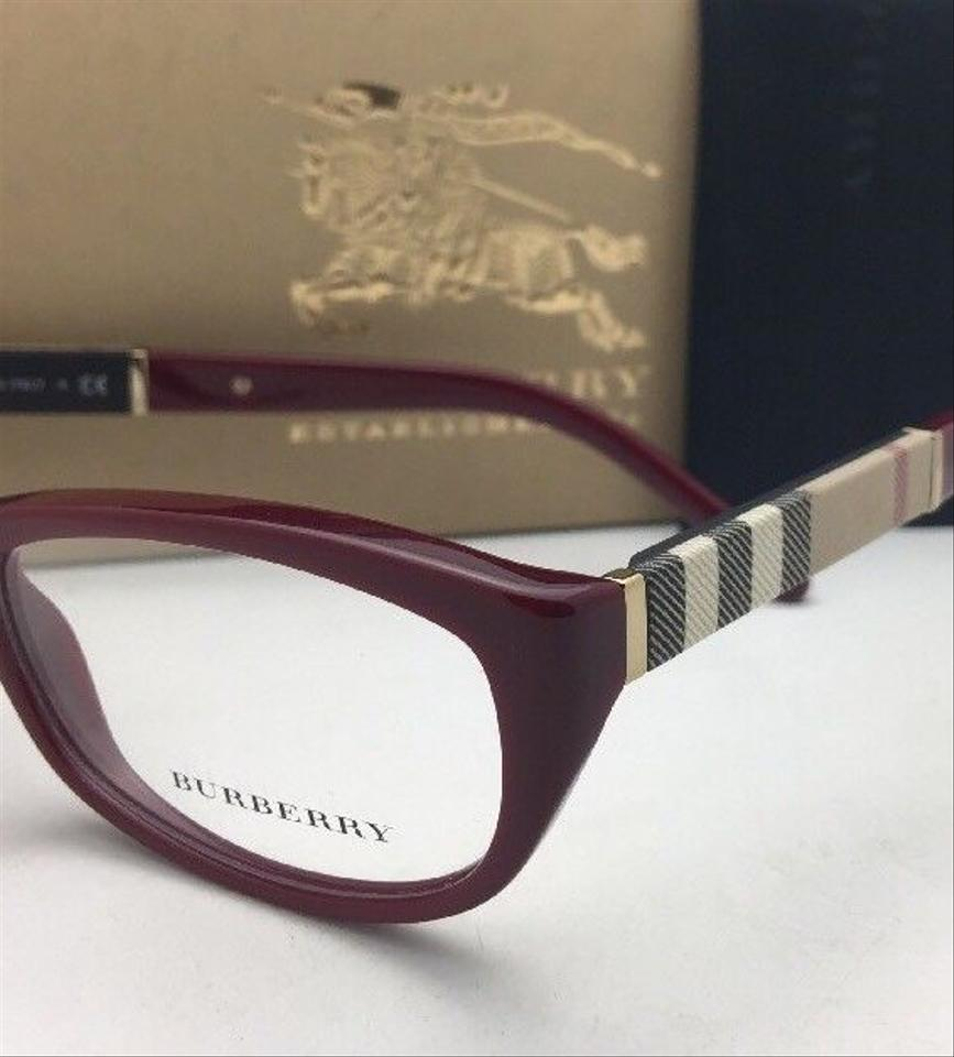5596f8998629 Burberry New BURBERRY Eyeglasses B 2167 3403 52-16 140 Red Burgundy w  Plaid.  123456789101112