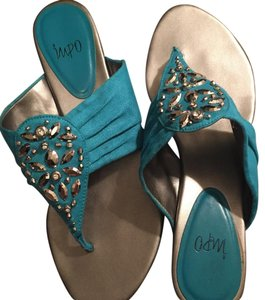 Impo Beaded Kitten turquoise Sandals