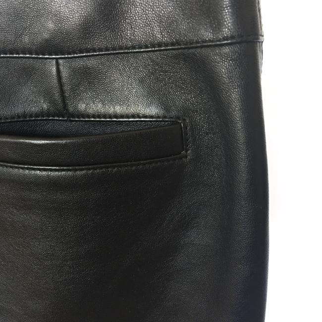 Versus Versace Leather Silver Zippers Mini Skirt Black Image 3