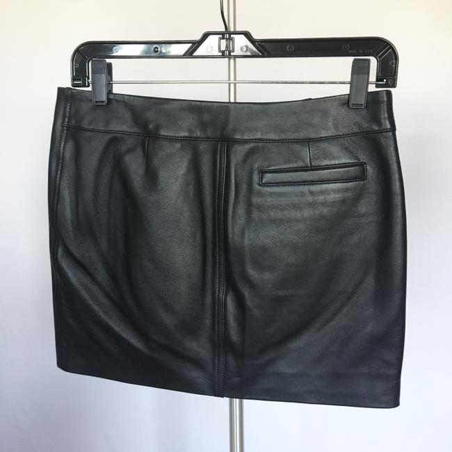 Versus Versace Leather Silver Zippers Mini Skirt Black Image 6