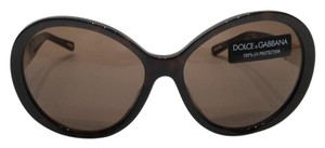 67c63e9301820 Dolce Gabbana BIG OVERSIZED ROUND BROWN SUNGLASSES DG 4103 73 FREE 3 DAY  SHIPPING