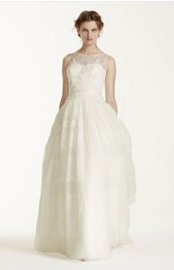 Melissa Sweet Ivory Lace Gown Wedding Dress Size 6 (S)