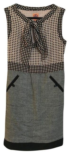 Item - Black Beige and Grey Classy Chic Mid-length Work/Office Dress Size 8 (M)