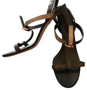Chloé Brown, Python Sandals