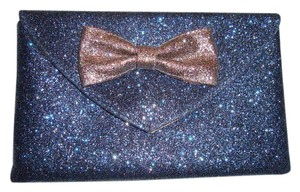 Anthropologie Glitter Party Holiday Blue Clutch