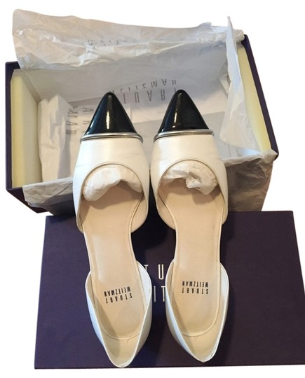 Preload https://item5.tradesy.com/images/stuart-weitzman-white-d-orsay-flats-size-us-55-2179559-0-0.jpg?width=440&height=440