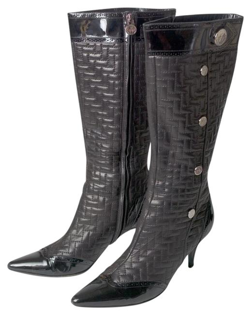 Item - Black Ukeg Quilted Nappa Leather + Patent Leather Boots/Booties Size EU 39.5 (Approx. US 9.5) Regular (M, B)