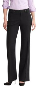 Banana Republic Wide Leg Jackson Fit Petite Trouser Pants Black