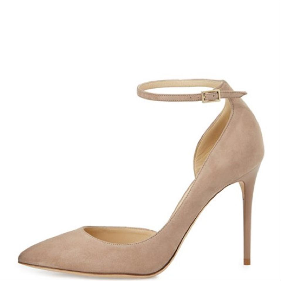 65f28040db5 Jimmy Choo Nude Lucy Half-d orsay Suede Pumps Size US 8 Regular (M ...
