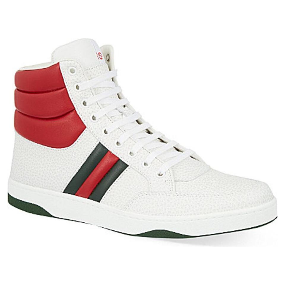 2384a5f70 Gucci White Men Ronnie High Top Sneakers Size EU 39 (Approx. US 9 ...