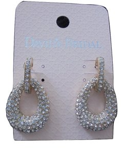 David's Bridal David's Bridal Earrings Bold Teardrop Crystal Earrings