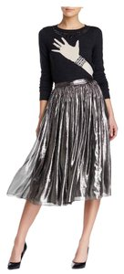Alice + Olivia Skirt metallic