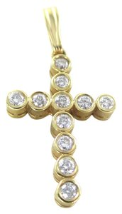 Other 14KT SOLID YELLOW GOLD CROSS 11 DIAMONDS .65 CARAT 2.6 GRAMS EASTER RELIGIOUS