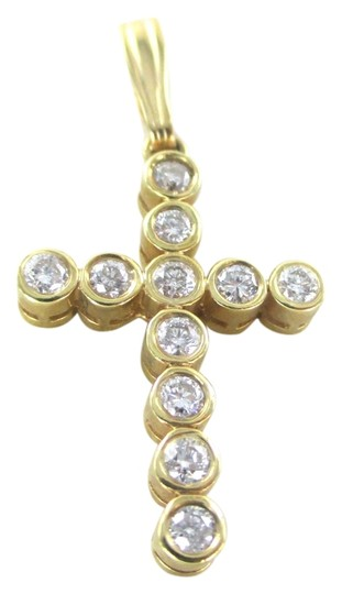 Preload https://img-static.tradesy.com/item/2179728/gold-14kt-solid-yellow-cross-11-diamonds-65-carat-26-grams-easter-religious-charm-0-0-540-540.jpg