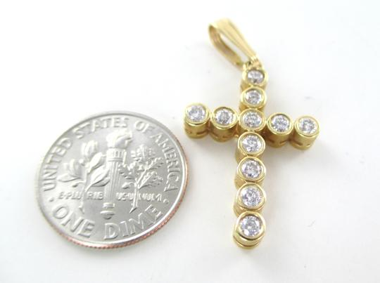 Other 14KT SOLID YELLOW GOLD CROSS 11 DIAMONDS .65 CARAT 2.6 GRAMS EASTER RELIGIOUS Image 2