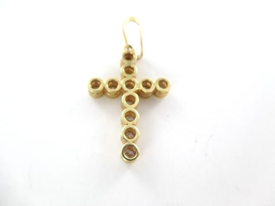 Other 14KT SOLID YELLOW GOLD CROSS 11 DIAMONDS .65 CARAT 2.6 GRAMS EASTER RELIGIOUS Image 5