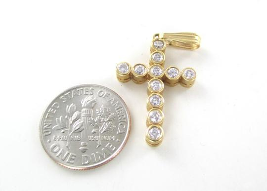 Other 14KT SOLID YELLOW GOLD CROSS 11 DIAMONDS .65 CARAT 2.6 GRAMS EASTER RELIGIOUS Image 7