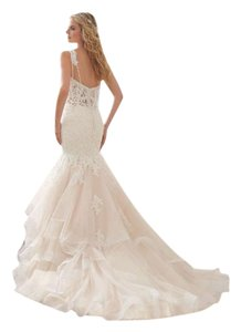 Mori Lee Ivory Lace Sexy Wedding Dress Size 8 (M)