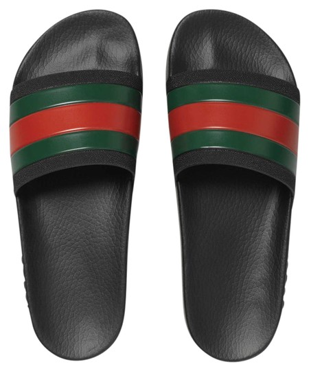 Gucci Black With Red Amp Green Web Stripe Pursuit 72 Pool
