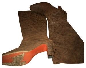 Michel Perry Leather Fall Italian Contrast Brown Boots
