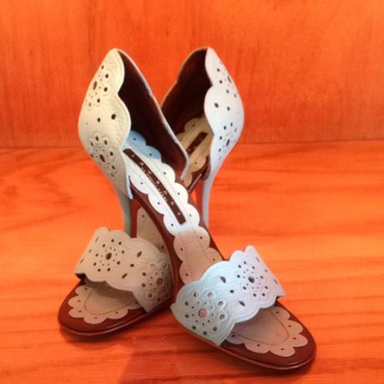 Laundry by Shelli Segal Baby blue with brown Pumps