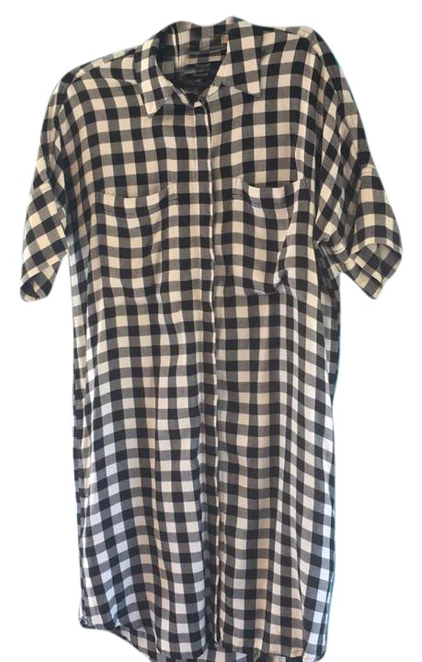 3a4dab3e6995d1 Madewell Black and White Short Casual Dress Size 2 (XS) - Tradesy