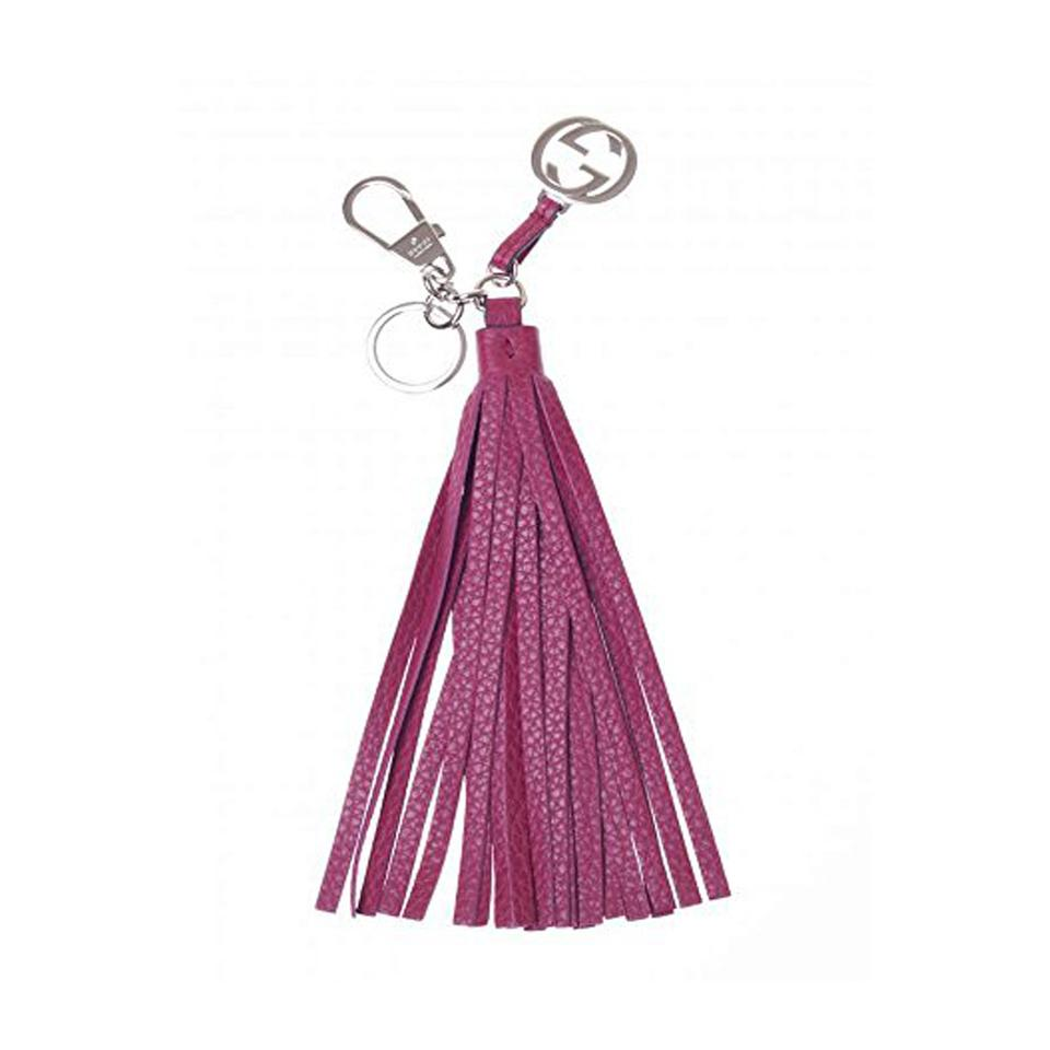 b6ef6cc8fd44 Gucci Gucci Women s Interlocking  G  Large Leather Tassel Key Chain Fob  Pink Image 0 ...