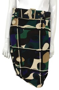 Céline Printed Color Knee Length Skirt Multi