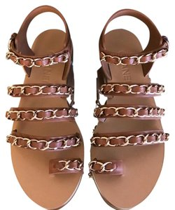 8fac79c93f7c Brown Chanel Sandals - Up to 90% off at Tradesy