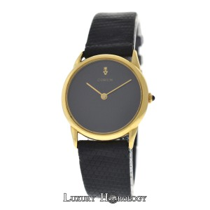 Corum Authentic Ladies Corum Black Dial Solid 18K Yellow Gold Mechanical