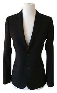 J.Crew Wool Fully Lined Interior Pockets Fitted 2 Button Closure Black Blazer