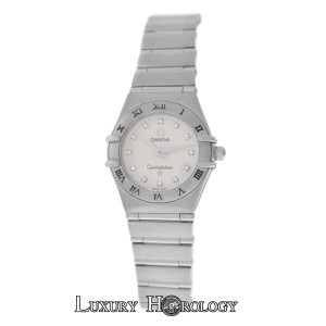 Omega Lady Omega Constellation Stainless Steel Quartz Diamond Dial 22MM