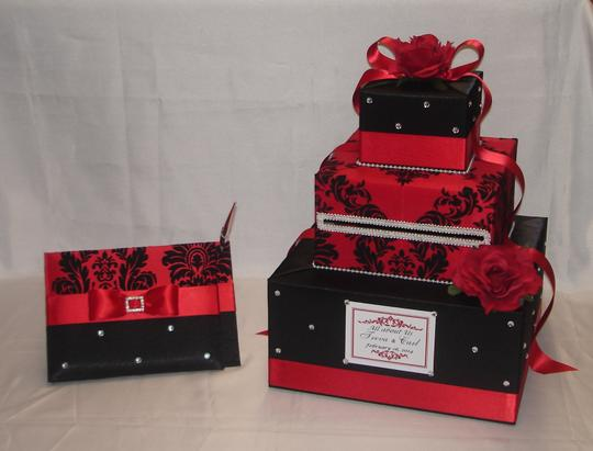 3 Tier Cardboxes With Guest Book