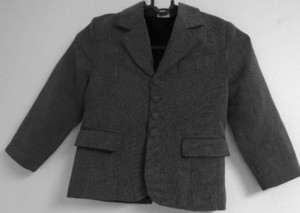 Independent Clothing Co. Toddler Boys Lined Charcoal Suit Jacket