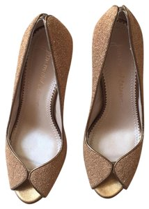 Jean-Michel Cazabat gold Pumps