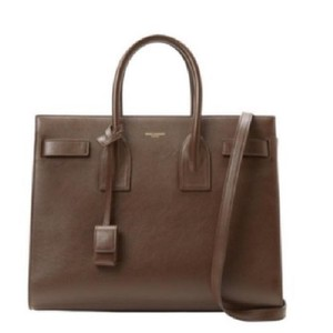 Saint Laurent Satchel in Chocolate Brown
