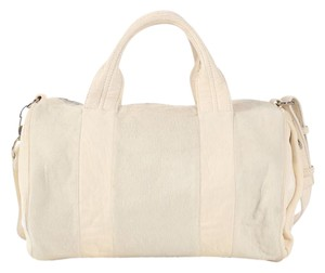 Alexander Wang Aw.l0612.02 Fur Studded Duffle Cream Satchel in White