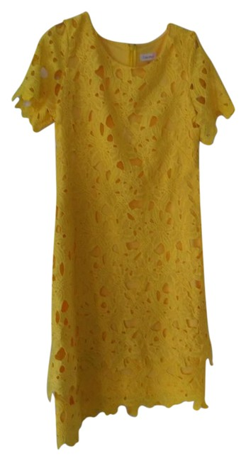 Item - Yellow Mid-length Cocktail Dress Size 14 (L)