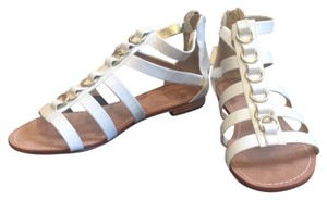 Saks Fifth Avenue white Sandals