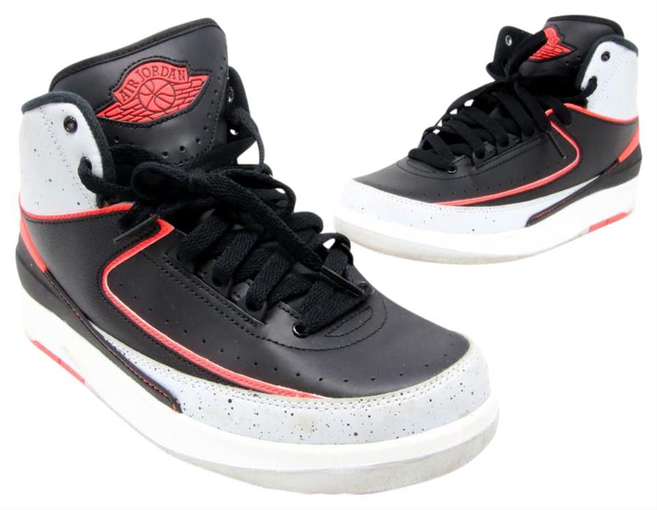 Air Jordan Black Nike Retro 2 Ii Infrared 23 Cement 6y Or Sneakers ... bed3b16d5b
