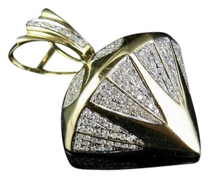 Jewelry Unlimited Men's 10K Yellow Gold 3D Diamond Shape Pendant 1.14 Ct 1.5""