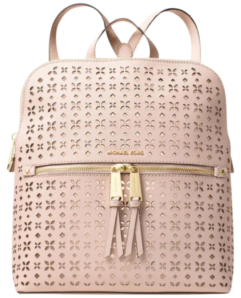 372147bb43 Michael Kors Rhea Medium Slim Soft Pink Leather Backpack - Tradesy