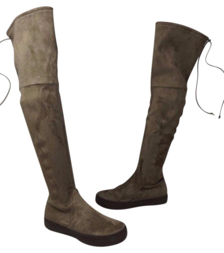 84a7e75b290 Stuart Weitzman Swamp Playtime Brown Suede Over The Knee Boots ...