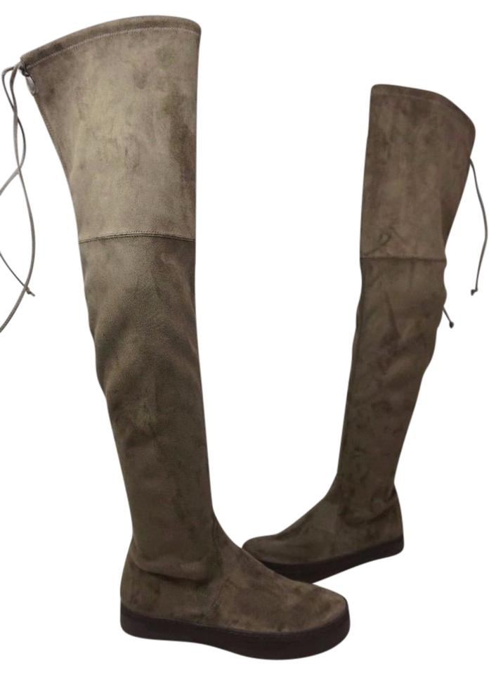 b0349e19d25 Stuart Weitzman Swamp Playtime Brown Suede Over The Knee Boots Booties