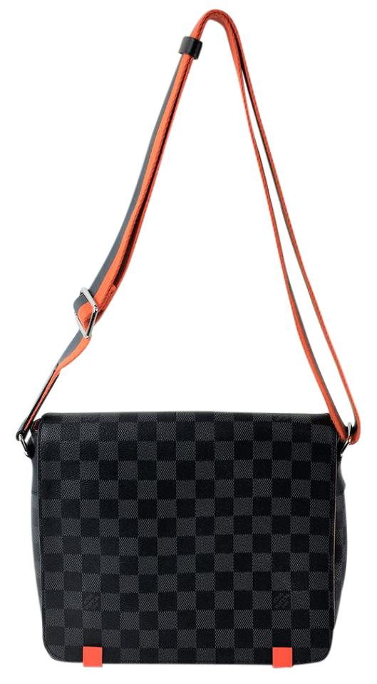 1e1d77d841c3 Louis Vuitton District Graphite Damier Black Orange Messenger Bag Image 0  ...